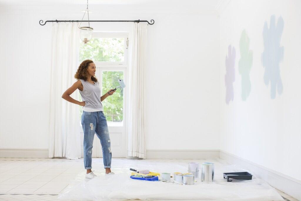 Farben wirken an der Wand meist anders