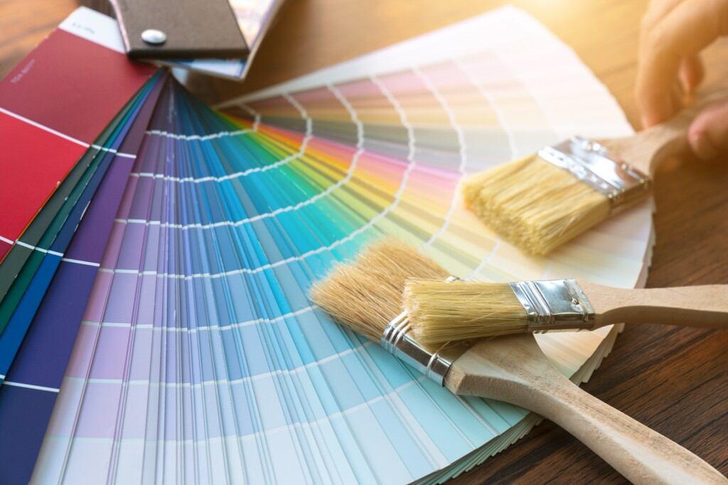 Farbpaletten helfen, sich der Traumfarbe zu nähern