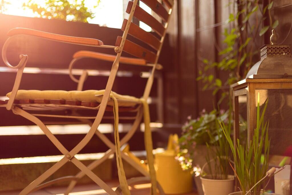 Pflanzen finden ihren Platz auf dem kleinsten Balkon
