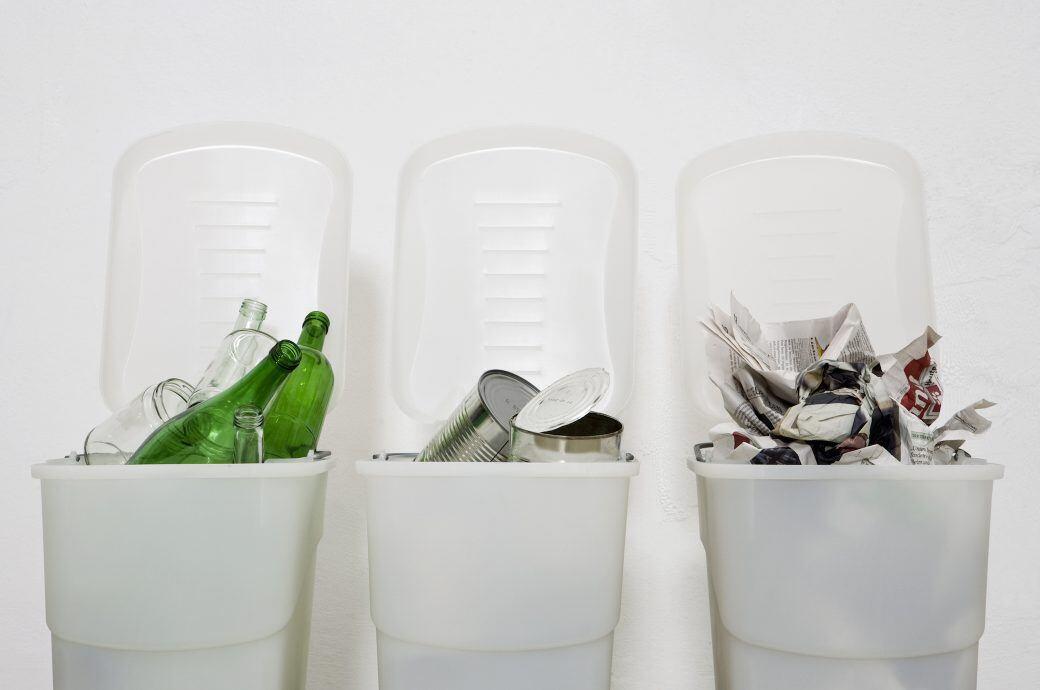 So trennen Sie Plastik-, Bio, Glas- und Papiermüll richtig