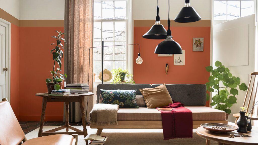 """Die Interior-Trend-Farbe """"Spiced Honey"""" von Dulux ist vielseitig einsetz- und kombinierbar"""