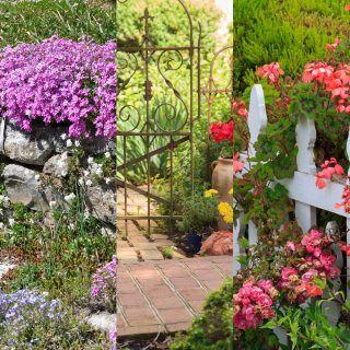 Es gibt Gartenzäune aus Holz, Stein und Metall