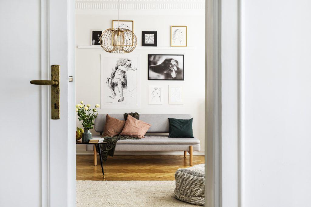 Als Gruppe gestaltete Kunst in Wohnung