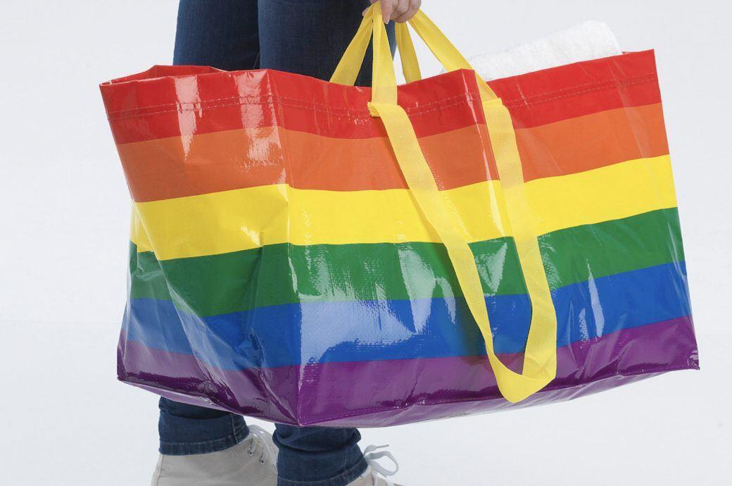 Kvantig Tasche von Ikea Deutschland in Regenbogenfarben