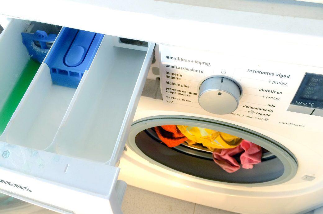 Wofür ist das dritte Fach bei einer Waschmaschine?