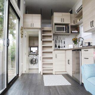 Wie man Spülmaschine und Waschmaschine in kleine Küchen integrieren kann