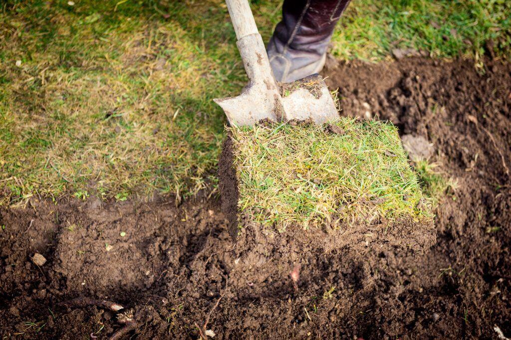 Beim Umgraben reicht es, spatentief zu graben