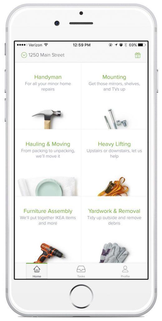 Mit der App lassen sich Helfer für viele Probleme buchen