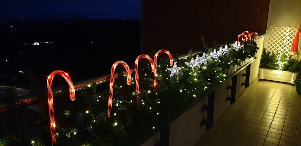 Outdoor-Beleuchtung für Weihnachten