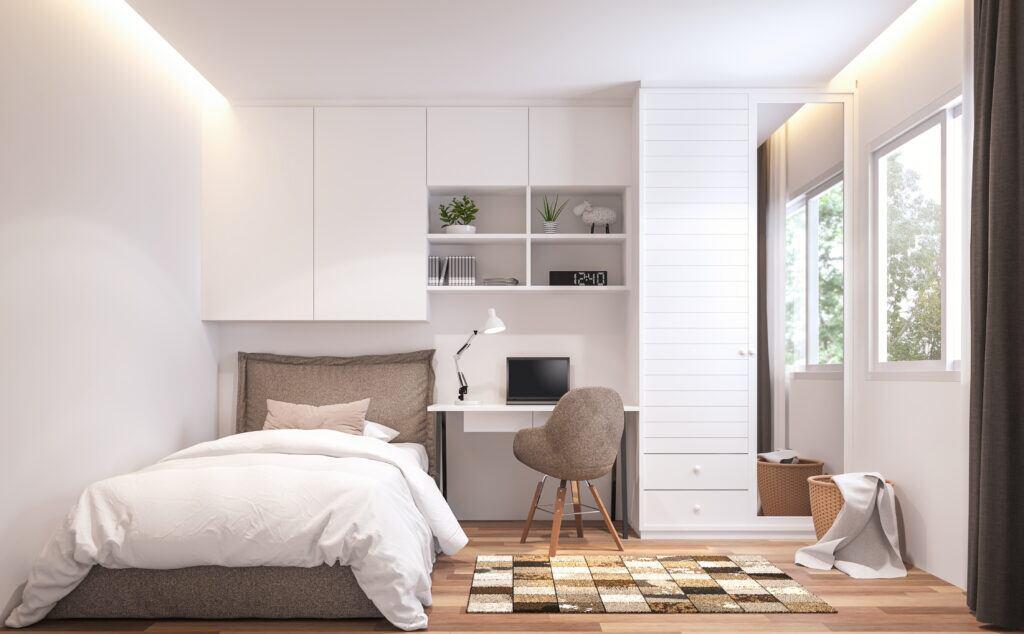 Individuelle Möbel in kleinem Schlafzimmer