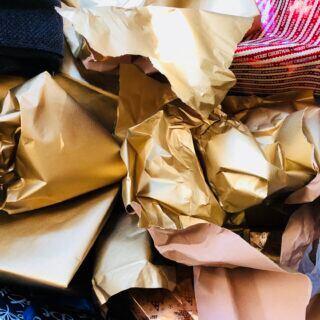 Geschenkpapier kann sinnvoll genutzt werden