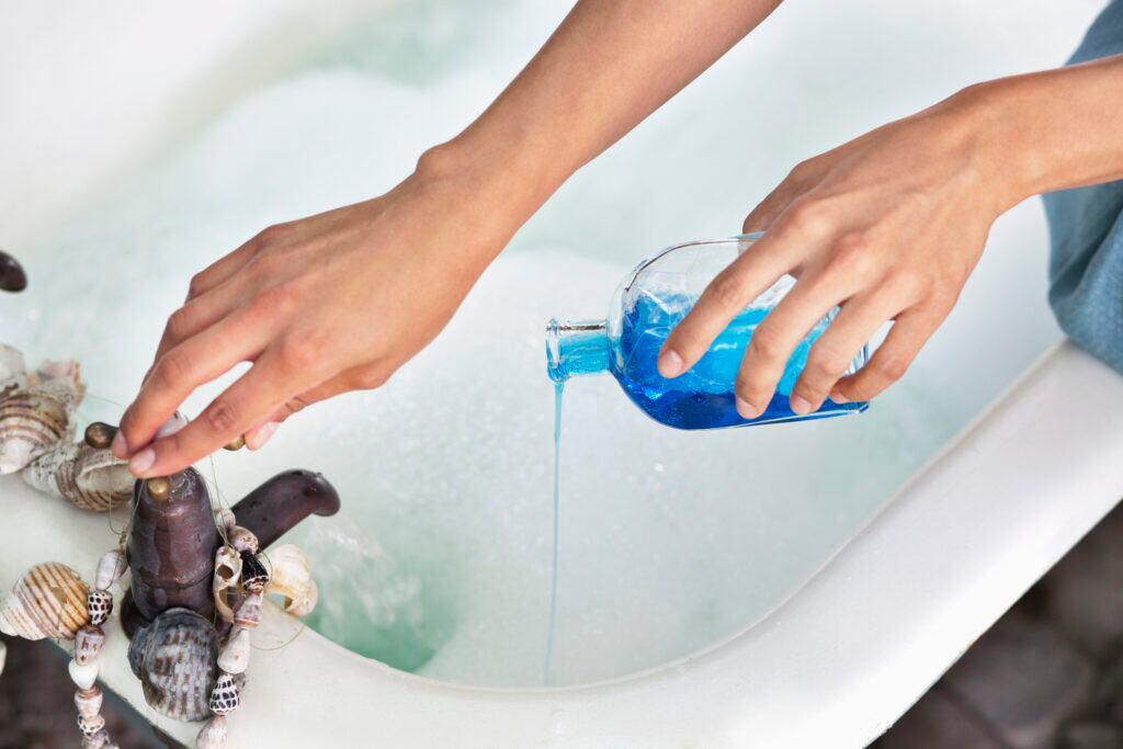 Wasser Badewanne
