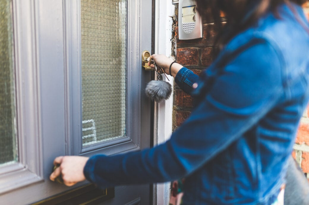 Tür abschließen Trick
