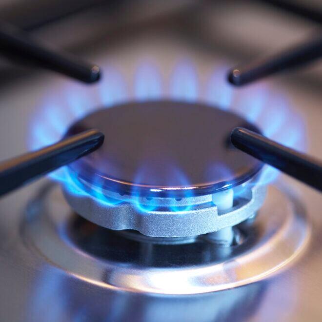 Auch beim Gasherd kann Gas austreten