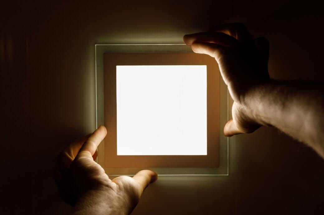 LED-Panels gibt es mittlerweile immer öfter auch in Privatwohnungen
