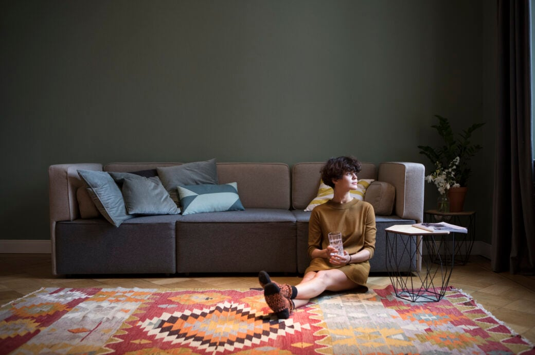 Sofa niedrige Lehne
