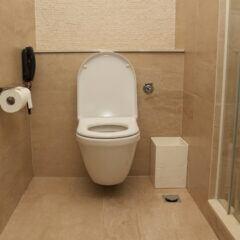Tatsächlich ist es sehr unwahrscheinlich, dass eine Toilette unter hohem Gewicht zu Bruch geht
