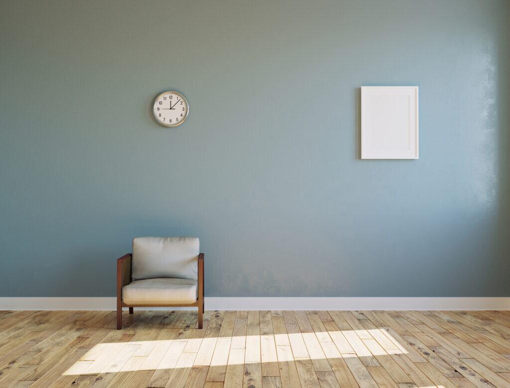Räume mit der richtigen Wandfarbe kürzen
