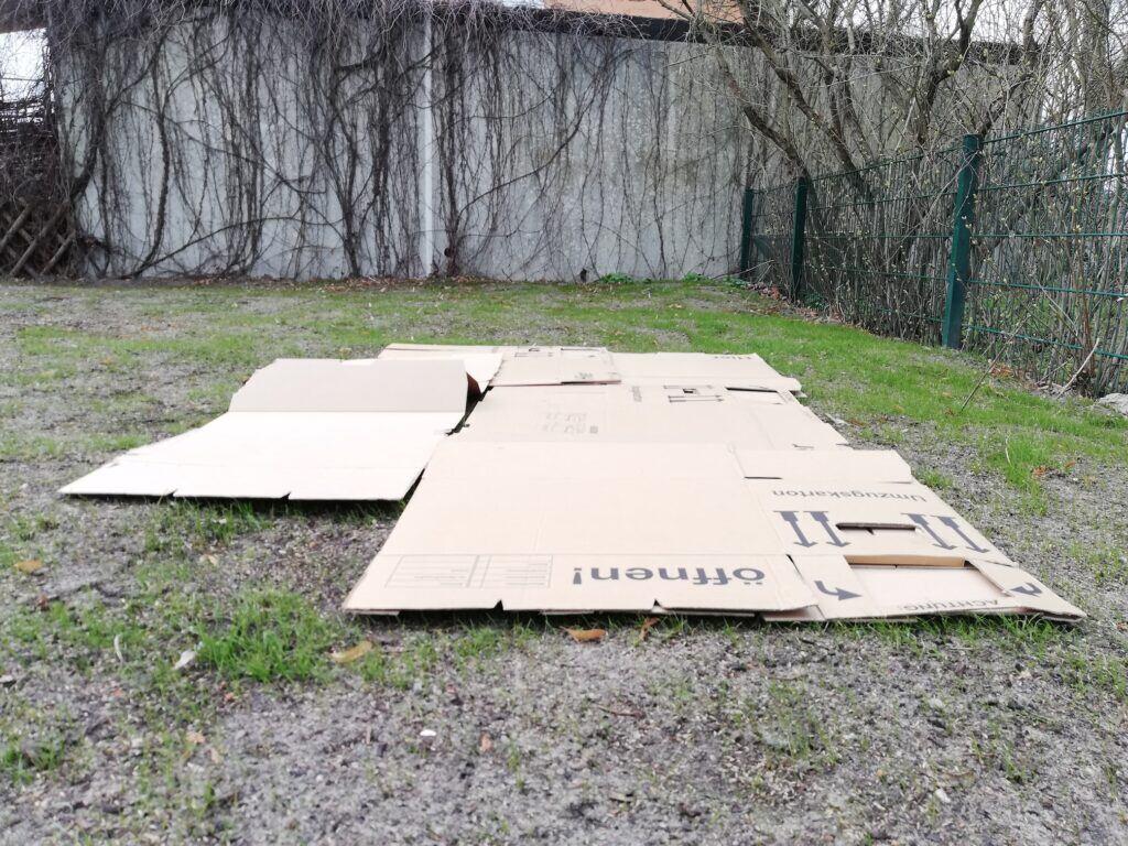 Nicht wegwerfen! Kartons können die Erde im Beet verbessern