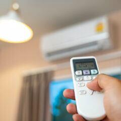 Eine Klimaanlage bringt Abkühlung an heißen Tagen