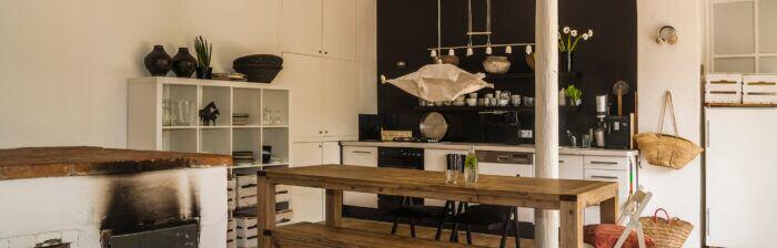 Küchen-Designs und Einrichtungsstile im Vergleich