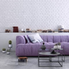 Mit Möbeln in Flieder einrichten
