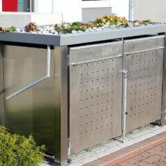 Sichtschutz für die Mülltonne aus Metall