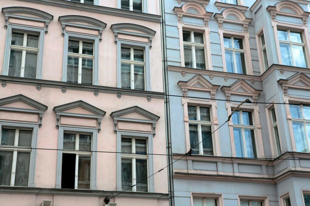 Wohnhäuser in der Stadt