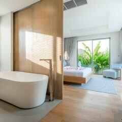 Badewanne im Schlafzimmer
