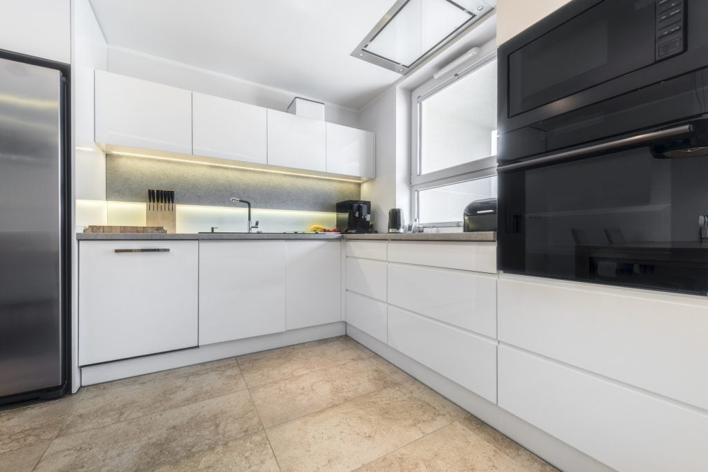 Indirect lighting in the kitchen