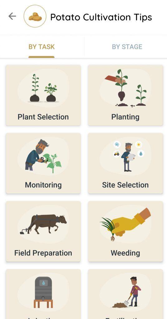 Die App verfügt über Tipps für verschiedenste Pflegebereiche und Wachstumsphasen der Pflanze
